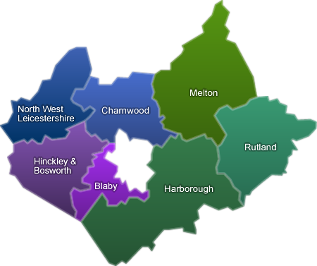 Map Of Leicestershire Leicestershire Parish Councils   Home Map Of Leicestershire